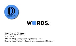 Author, Myron J. Clifton Digital Business Card