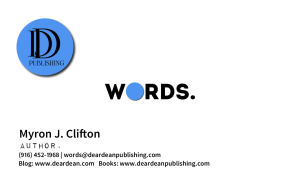 Author, Myron J. Clifton Digital Business Card