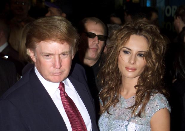Donald Trump and Melania Knauss at the Aida opening in New York City, NY on March 23, 2000  Photo by Scott Gries/Getty Images